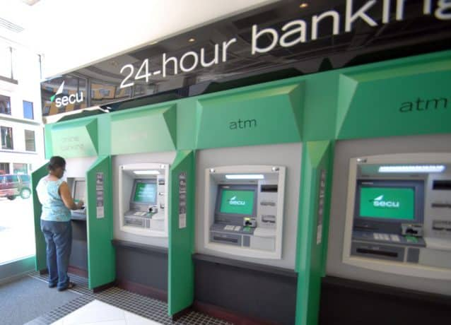 four ATM machines in lobby