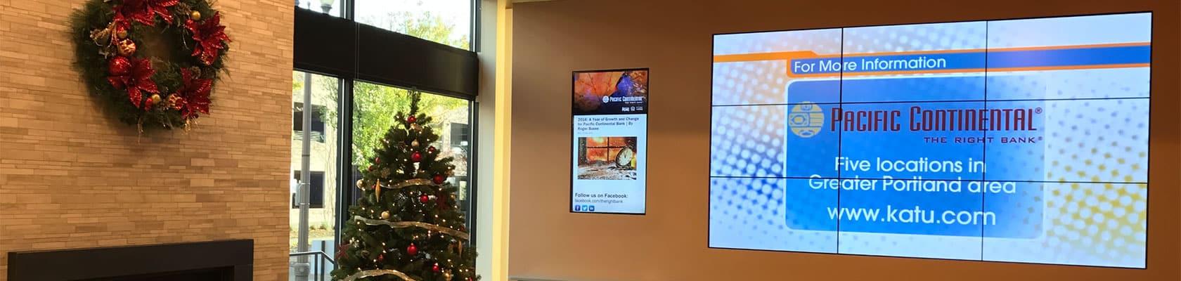 Lobby Screen Installation