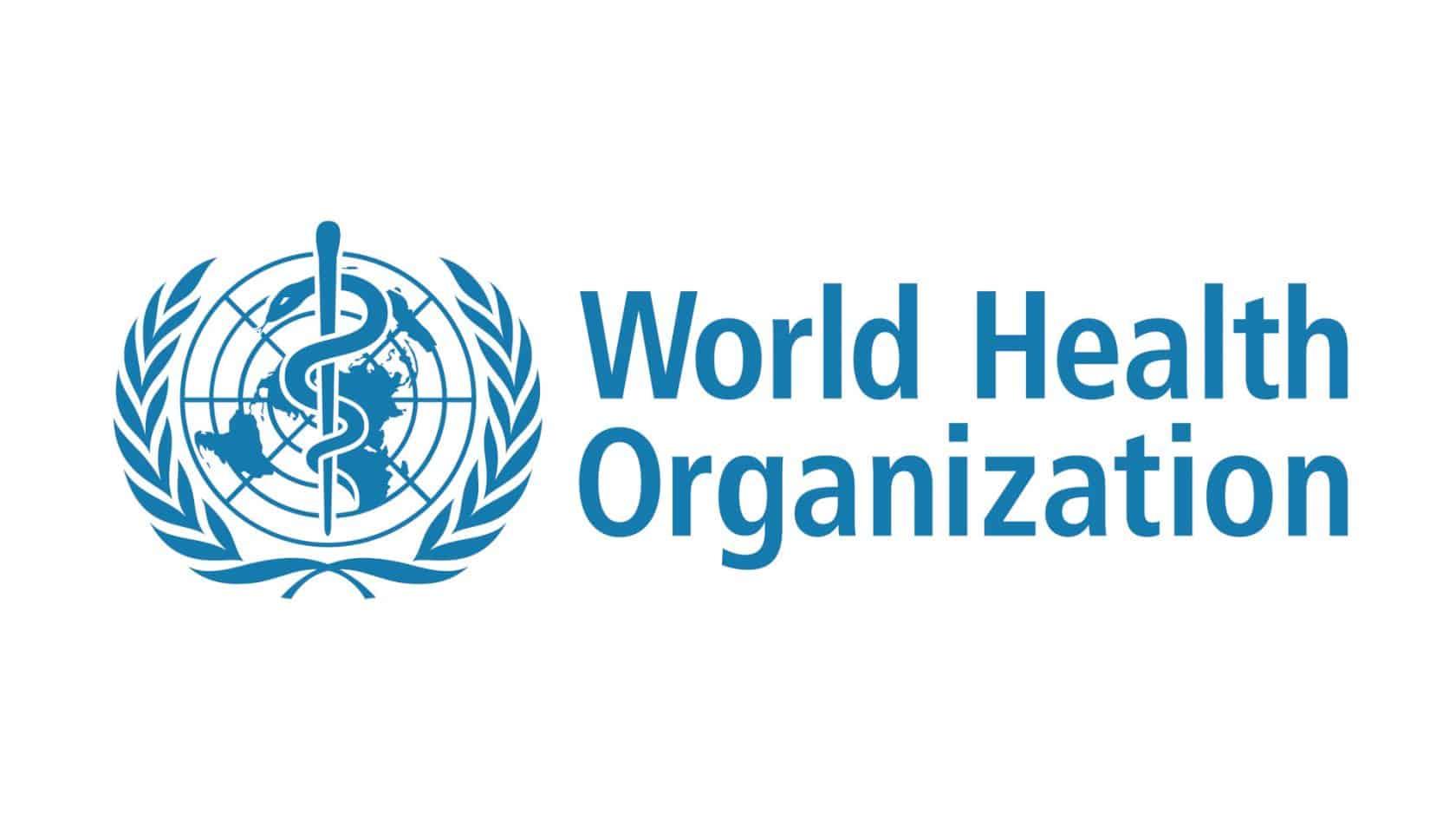 World Health Organization logo on white background