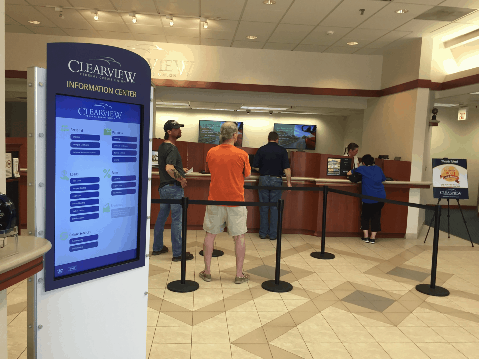 Clearview FCU member information center.